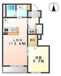 東武野田線 塚田駅 徒歩11分の賃貸アパート 1階1LDKの間取り