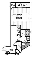 ガーデンコート石井[3階]の間取り