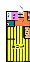 俊明荘[1階]の間取り