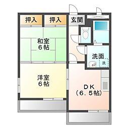 グランデージSUMI[2階]の間取り