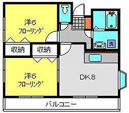 神奈川県横浜市栄区鍛冶ケ谷町の賃貸アパートの間取り