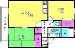 ハイカムール坂井[2階]の間取り