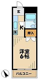 東京都多摩市中沢2の賃貸マンションの間取り