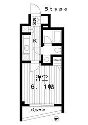 東京都練馬区豊玉北5丁目の賃貸マンションの間取り