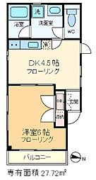 三國コーポ[3階]の間取り