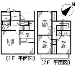 [テラスハウス] 神奈川県横浜市都筑区中川8丁目 の賃貸【/】の間取り