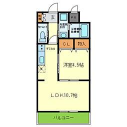 JR東海道・山陽本線 千里丘駅 徒歩8分の賃貸アパート 1階1LDKの間取り