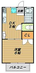 須磨浦ハイツ[1階]の間取り