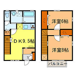 [テラスハウス] 栃木県小山市大字間々田 の賃貸【/】の間取り
