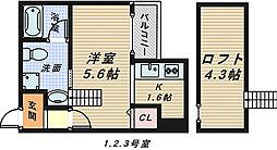 flawless堺壱番館[1階]の間取り