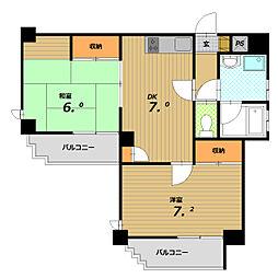 キューブハウス[2階]の間取り