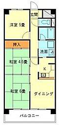愛知県豊田市小坂町15丁目の賃貸マンションの間取り