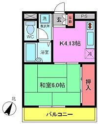 千葉県浦安市猫実2丁目の賃貸マンションの間取り