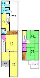 [一戸建] 兵庫県加古川市加古川町寺家町 の賃貸【/】の間取り