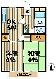 ソシア 西館[3階]の間取り