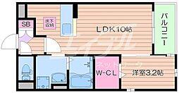大阪府箕面市石丸2丁目の賃貸アパートの間取り