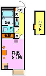 ゆげたII[2階]の間取り
