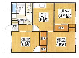 Kマンション[202号室]の間取り