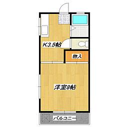 東京都葛飾区東新小岩7丁目の賃貸アパートの間取り