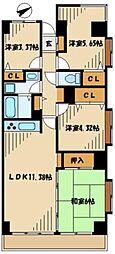 リシャール津久井湖[4階]の間取り
