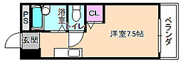 レオハイム長尾3[4階]の間取り