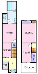 [テラスハウス] 大阪府松原市阿保4丁目 の賃貸【/】の間取り