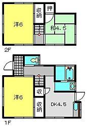 [一戸建] 神奈川県横浜市旭区今宿1丁目 の賃貸【/】の間取り