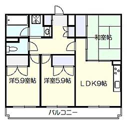 ロークガーデン[1階]の間取り