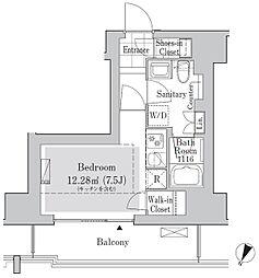 リブクオーレ神保町 8階ワンルームの間取り