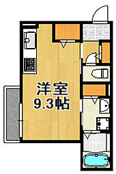 兵庫県宝塚市中筋山手3丁目の賃貸アパートの間取り