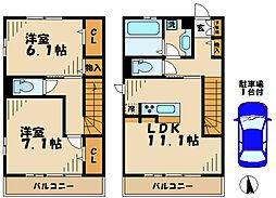 [テラスハウス] 神奈川県川崎市麻生区はるひ野3丁目 の賃貸【/】の間取り