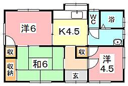 [一戸建] 岡山県倉敷市東塚3丁目 の賃貸【/】の間取り