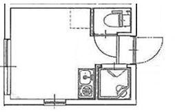 ハイノックI 2階ワンルームの間取り