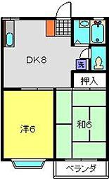神奈川県横浜市都筑区早渕1丁目の賃貸アパートの間取り