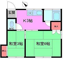 第5西野荘[2階]の間取り