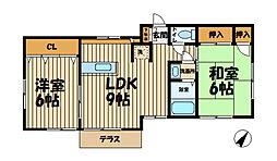 サニーサイド北鎌倉A[101号室]の間取り