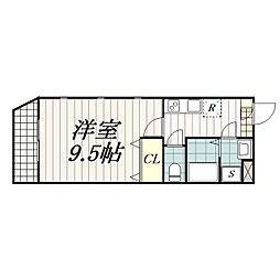 スパシーバ検見川[2階]の間取り