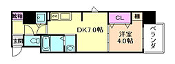 Osaka Metro谷町線 野江内代駅 徒歩5分の賃貸マンション 7階1DKの間取り