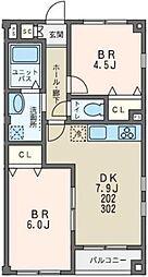 L・CLASSIS中川(エル・クラシス中川)[3階]の間取り