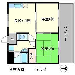 上阿達谷口マンション[1階]の間取り