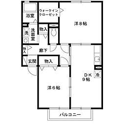 ガーデンハウス明正 B棟[2階]の間取り