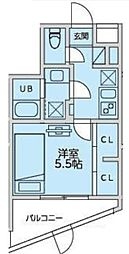恵比寿YKマンション 1階1Kの間取り
