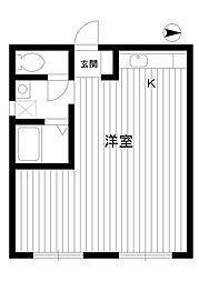 東京都練馬区谷原3丁目の賃貸マンションの間取り