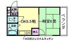 サンハイツ池田[3階]の間取り