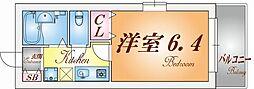 兵庫県神戸市須磨区桜木町2丁目の賃貸アパートの間取り