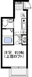 オーガスタコート横浜反町[204号室]の間取り