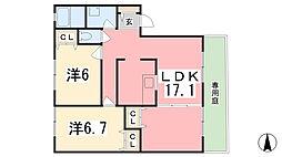 アベニューB[1階]の間取り