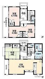 [一戸建] 福岡県福岡市東区香椎6丁目 の賃貸【/】の間取り