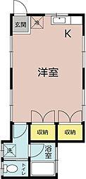 ルーエトモエ宮崎町[2階]の間取り