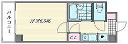 ダイナコート箱崎II[602号室]の間取り